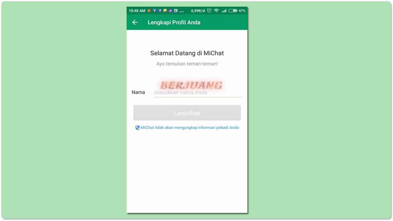 Cara Daftar Akun MiChat