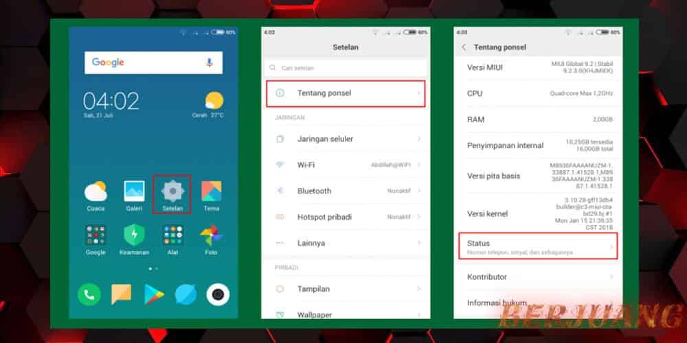 Cara Cek IMEI Xiaomi Lewat Menu Settings