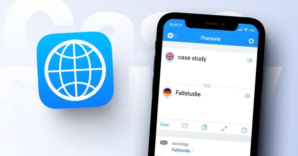 Aplikasi terjemah iTranslate