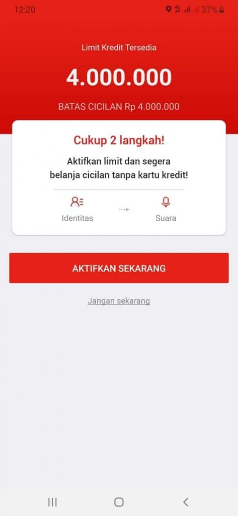 limit kredit aplikasi Akulapu