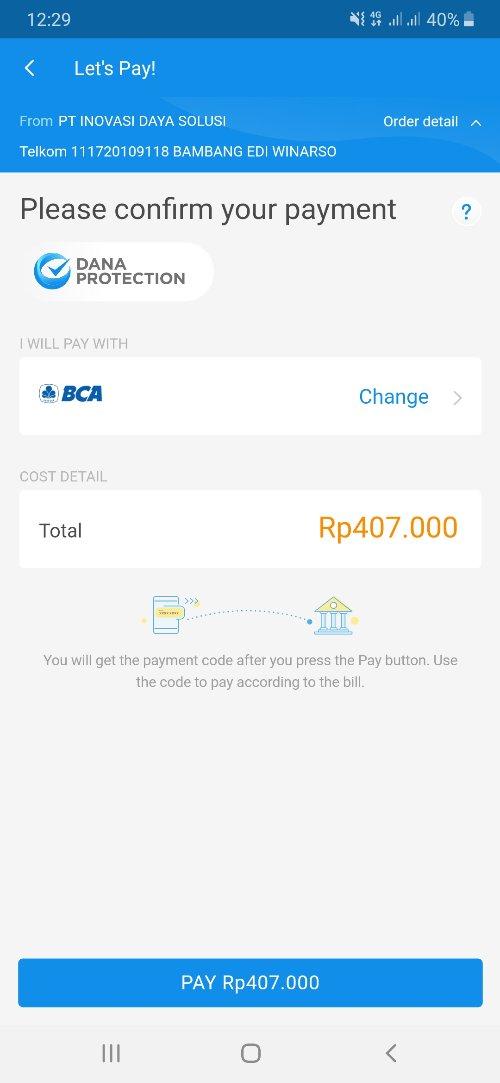 Bayar Tagihan Indihome di Aplikasi Dana 6