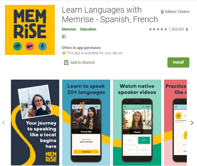 Learn Language With Memrise